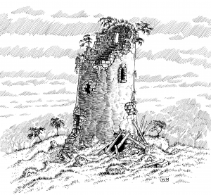 Ruined Tower, by William McAusland