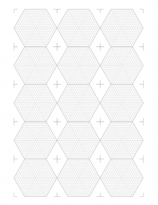 Hex Tile Template thumbnail, 3x5 portrait