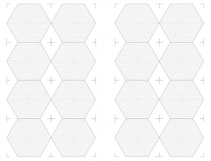 Hex tile template thumbnail, booklet layout