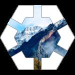 Mountains Hex Tile