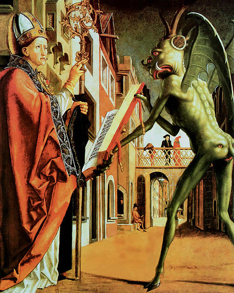 Saint Wolfgang and the Devil, by Michael Pacher.