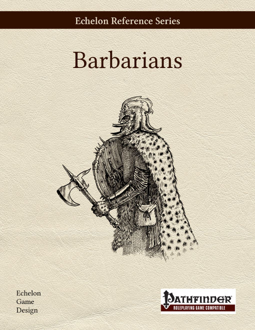 Echelon Reference Series: Barbarian, cover second draft