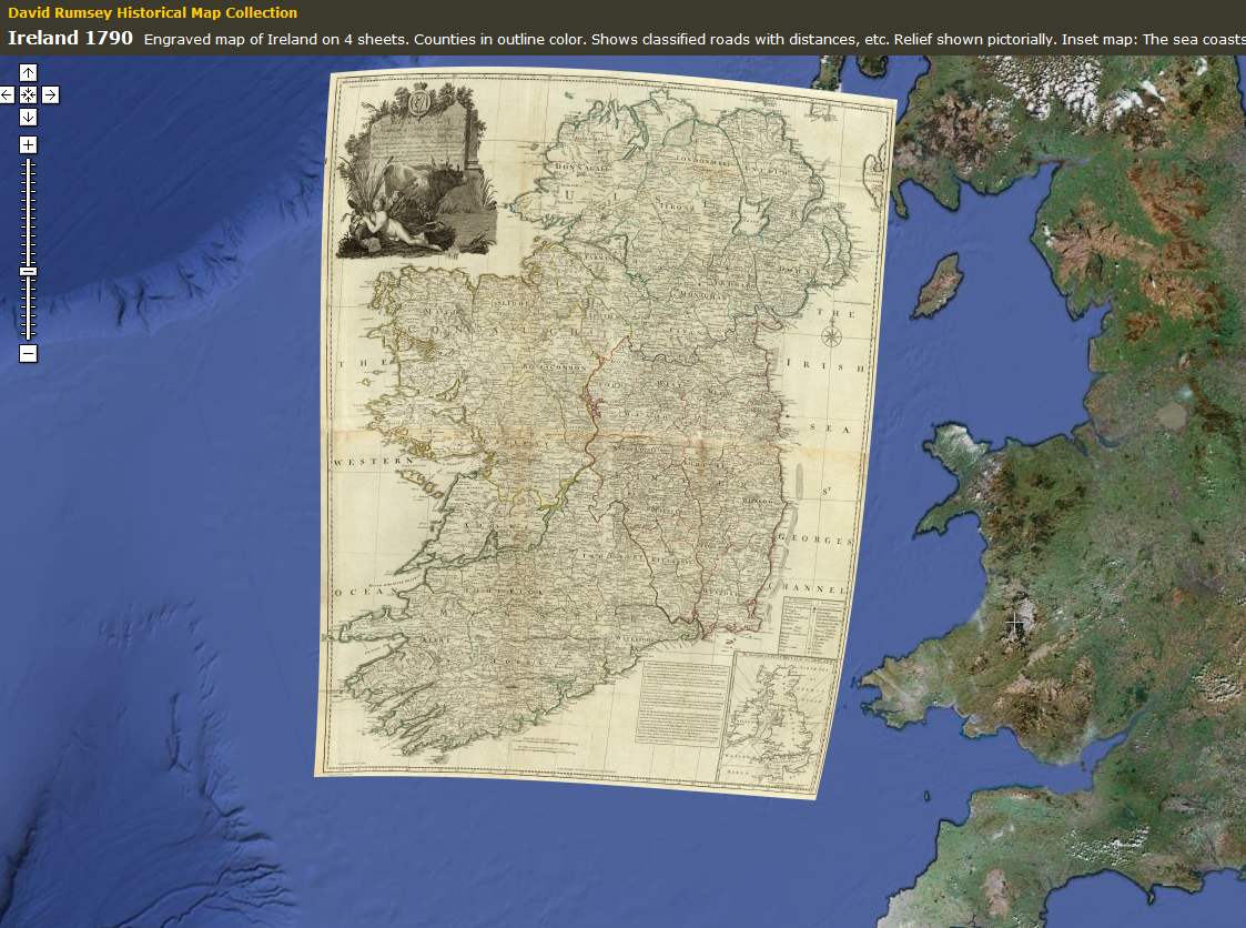 Ireland 1890 Overlaid on Google Earth