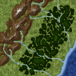 Mountains, Rivers, Forest
