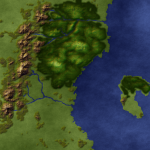 Mountains, hills, forests, rivers